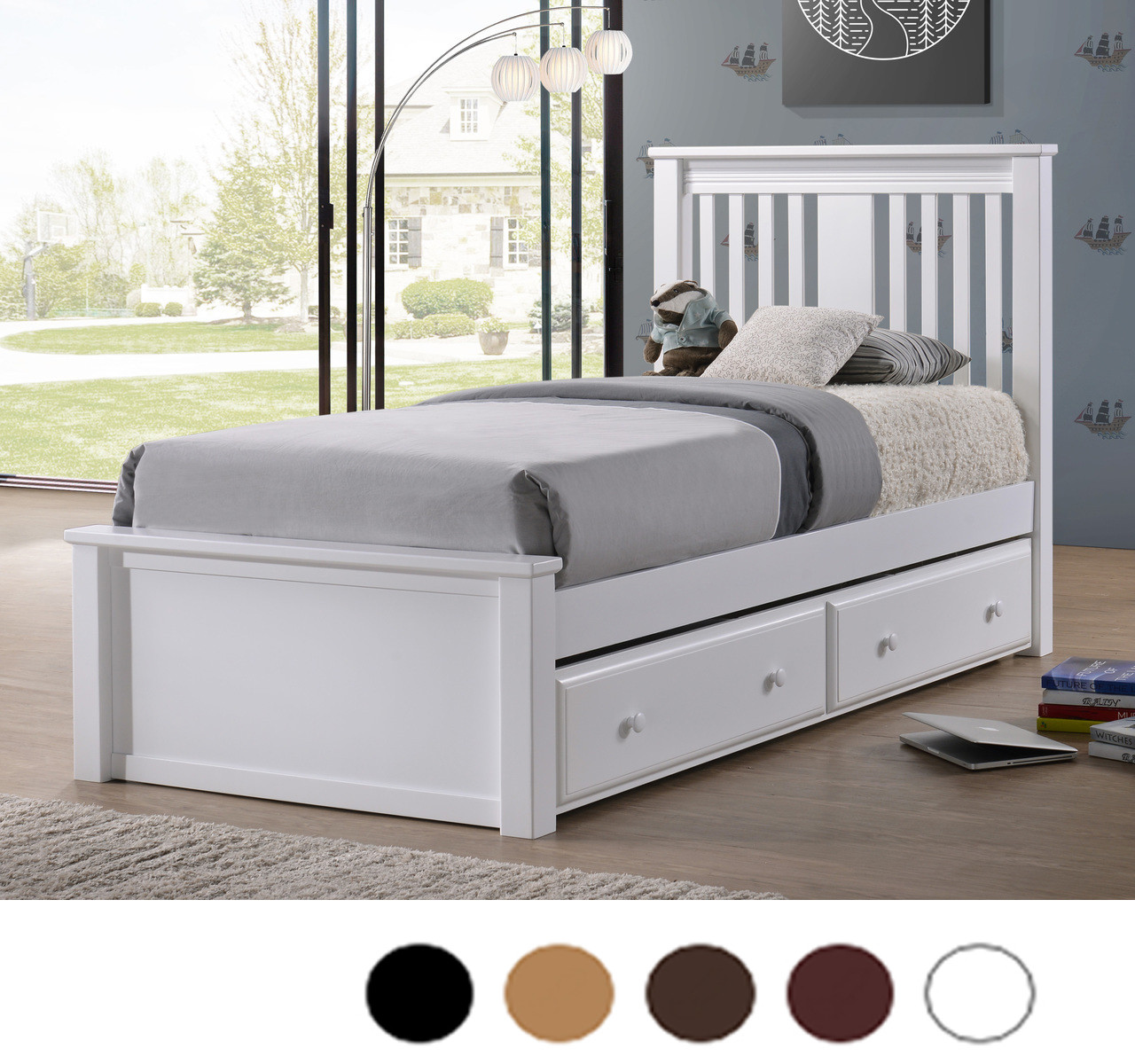 Gary Mission Wood Twin Platform Bed Platform Bed With Trundle