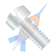 1/4-20 x 1/2 Slotted Fillister Head Machine Screw Fully Threaded Zinc