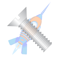 1/2-13 x 1-1/4 Slotted Flat Machine Screw Fully Threaded 18-8 Stainless Steel