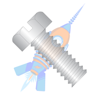 1/4-20 x 1-1/4 Slotted Indented Hex Head Machine Screw Fully Threaded 18-8 Stainless Steel