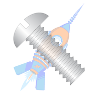 1/2-13 x 1-1/2 Slotted Round Machine Screw Fully Threaded 18-8 Stainless Steel