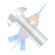 1/2-13 x 2-1/2 Slotted Round Machine Screw Fully Threaded Zinc