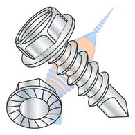 1/4-14 x 1 A/F.428-.437 HD Hgt.172-.190 Slot Indhxwash Serrate Self Drill Full Thread Zinc