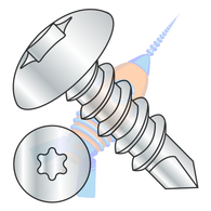 1/4-14 x 3/4 6 Lobe Truss Self Drilling Screw Fully Threaded Zinc