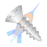 1/4-14 x 2-1/2 Phillips Flat Self Tapping Screw Type A B Fully Threaded 18-8 Stainless Steel