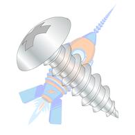 1/4-14 x 1-1/4 Phill Full Contour Truss Self Tapping Screw Type A B Fully Thread Zinc &