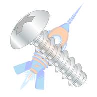 1/4-14 x 1-1/4 Phillips Full Contour Truss Self Tapping Screw Type B Full Thread Zinc