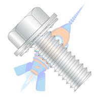 1/4-20 x 1/2 Unslotted Ind Hex Washer Internal Sems Machine Screw Full Thread Zinc &