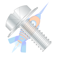 1/4-20 x 1 Phillips Pan Square Cone Sems Fully Threaded Zinc