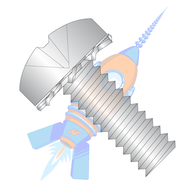 1/4-20 x 1/2 Phillips Pan External Sems Machine Screw Fully Threaded 18-8 Stainless Steel
