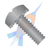 1/4-20 x 1/2 Phillips Pan External Sems Machine Screw Fully Threaded Black Zinc