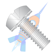 1/4-20 x 1/2 Phillips Pan Internal Sems Machine Screw Fully Threaded 18-8 Stainless Steel