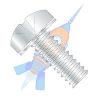 1/4-20 x 1 Phillips Pan Split Lock Washer Sems Fully Threaded Zinc