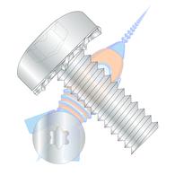 1/4-20 x 3/4 Six Lobe Pan Head External Tooth Sems Machine Screw Fully Threaded Zinc