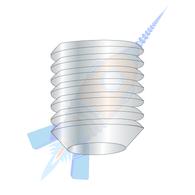 0-80 x 3/32 Fine Thread Socket Set Screw Cup Point Plain Imported