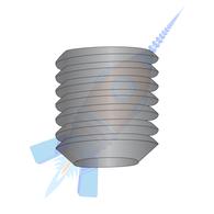 1/4-20 x 3/16 Coarse Thread Socket Set Screw Flat Point Plain Imported