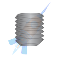 1/4-20 x 3/8 Coarse Thread Socket Set Screw Flat Point Plain Imported