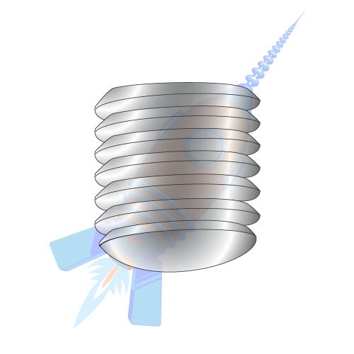 "1//4/""-20 x 2/"" Coarse Thread Socket Set Screw Cup Pt Black Oxide"