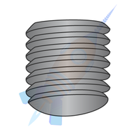 1/4-20 x 1/2 Coarse Thread Socket Set Screw Oval Point Plain