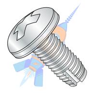 1/4-20 x 1 Phillips Pan Thread Cutting Screw Type 1 Fully Threaded Zinc