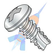 1/4-14 x 1-1/4 Phillips Pan Thread Cutting Screw Type 25 Fully Threaded Zinc