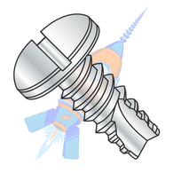 1/4-14 x 1/2 Slotted Pan Thread Cutting Screw Type 25 Fully Threaded Zinc