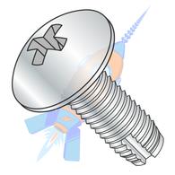 1/4-20 x 1-1/2 Phillips Truss Thread Cutting Screw Type 1 Fully Threaded Zinc