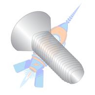 1/4-20 x 3/4 Phil Flat Taptite Alternative Thread Rolling Screw Fully Thrd 18-8 S/S Pass &Wax
