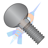 1/4-20 x 1 Thumb Screw Fully Thread Black Oxide
