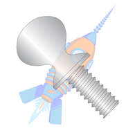 1/4-20 x 1 Thumb Screw with Shoulder Full Thread 18-8 Stainless Steel