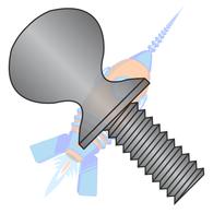 1/4-20 x 1-1/2 Thumb Screw with Shoulder Full Thread Black Oxide