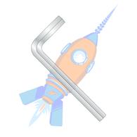 M10 Metric Hex Key Wrench Short Arm Plain