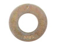 10 Machine Screw Washer Zinc Yellow