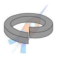 M14 Metric Din 7980 High Collar Split Lock Washer Thermal Black