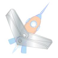 8-32 Toggle Wing Zinc