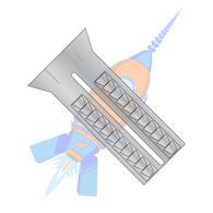 6-8 x 1-1/2 Lead Alloy Anchor #8 Diameter
