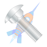 1/2-13 x 1-3/4 Carriage Bolt Fully Threaded Zinc