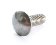 1/4-20 x 1 Ribbed Neck Carriage Bolt Grade 5 Fully Threaded Zinc