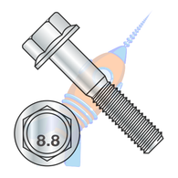 M10-1.5 x 70 DIN 6921 Class 8 Point 8 Metric Flange Bolt Screw Non Serrated Zinc Rohs