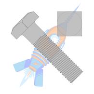 1/2-13 x 12 Square Machine Bolt Plain