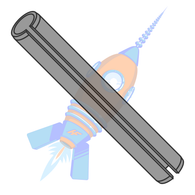 M2 x 10 Metric Pin Slotted Plain ISO 8752 Thermal Black