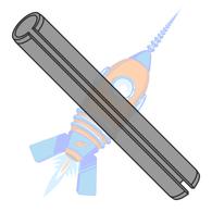 M2.5 x 10 Metric Pin Slotted Plain ISO 8752 Thermal Black