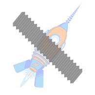 3/4-10 x 4-1/2 ASTM A193 ASME B16.5 B-7 B7 Stud Continuous Thread Plain