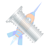 1/4-20 x 3/4 Self Clinching Stud Full Thread Hardened Steel Heat Treat Zinc