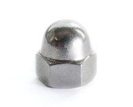 1/2-13 One Piece Low Crown Hex Cap Nut 18-8 Stainless Steel