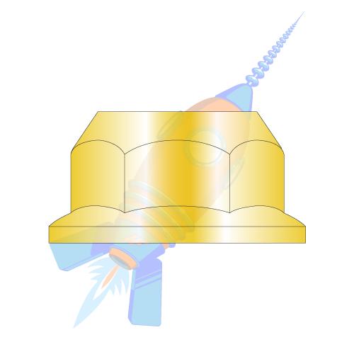 50 M16-2.0 Metric Hex Flange All Metal Lock Nut Class 10 DIN 6927 Zinc Plate