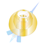 1/2-13 CE12698 Nylon Insert Flange Hex Locknut Grade 8 Zinc Yellow