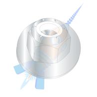 10-32 Nylon Insert Flange Stop Hex Lock Nut Zinc