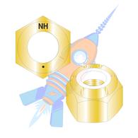 1-8 N1610 Nylon Insert Hex Locknut NE Light Hex Standard Height Grade 8 Zinc Yellow