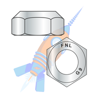 7/16-14 Coarse Thread Top Lock Hex Nut Grade 9 DFAR EcoGuard Gray/Silver 1000 Hr Cor